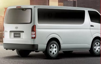 6th generation Toyota hiace van side and rear view