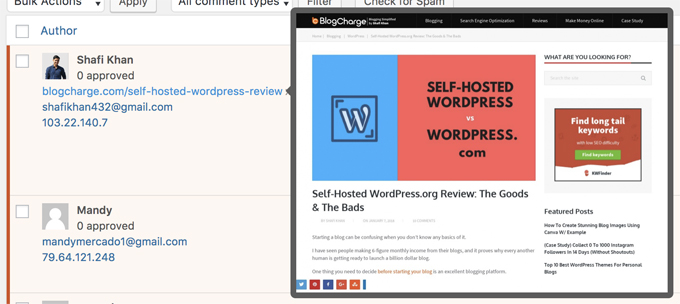Revealing the URL