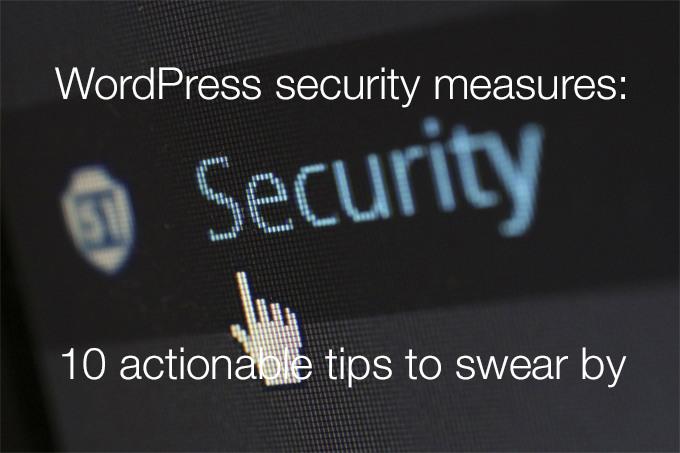 WordPress security measures