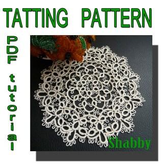 Doily Shabby tatting pattern