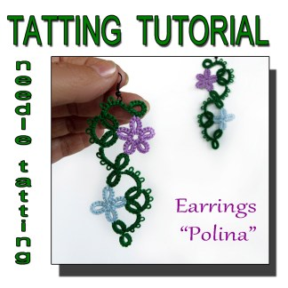 Earrings Polina tatting pattern