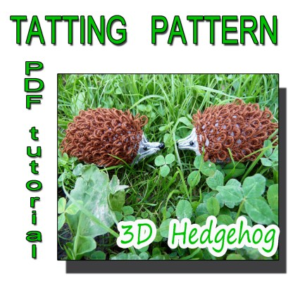 Hedgehog tatting pattern