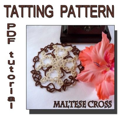 Maltese Cross tatting pattern