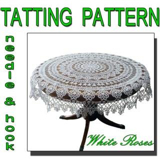 Tablecloth White Roses tatting pattern