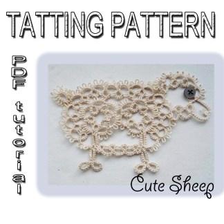 Cute Sheep tatting pattern