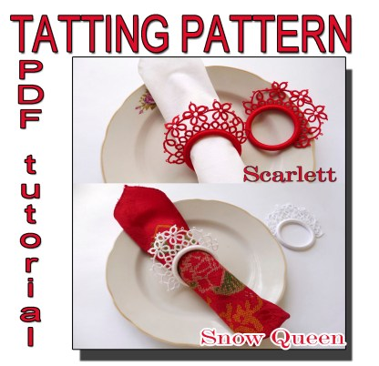 Two tatting patterns napkin rings