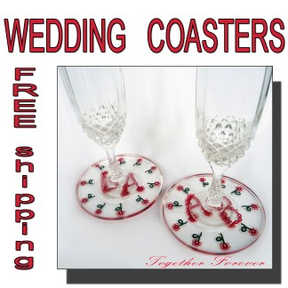 Wedding coasters Together Forever