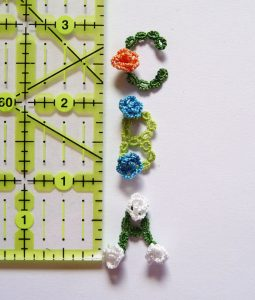 Rose Garden Alphabet for tatting in resin