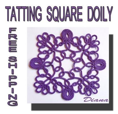 Tatting doily Diana