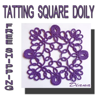 Tatting doily Diana