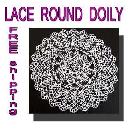 Large round white doily