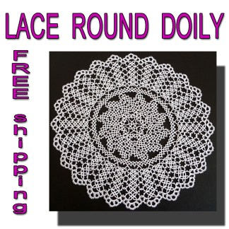 Large round white doily