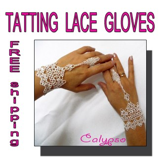 White wedding gloves Calypso