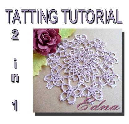 Doily Edna tatting pattern