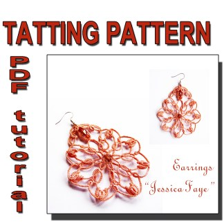 Earrings Jessica Faye tatting pattern