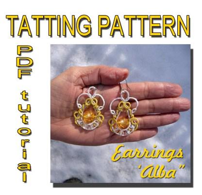 Alba earrings tatting pattern