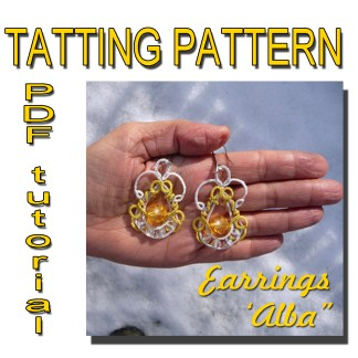 Alba earrings tatting pattern