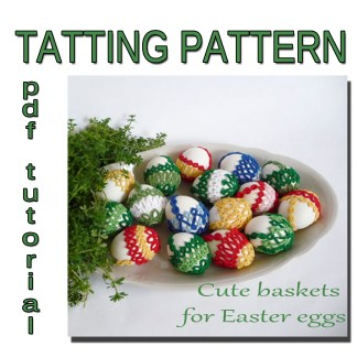 Tatted baskets for Easter
