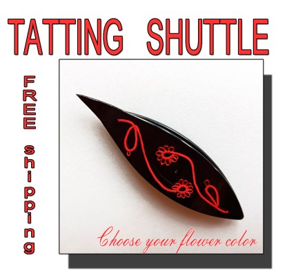 Black shuttle tatting