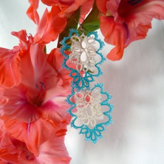 Earrings Cloud Gate, tatting jewelry