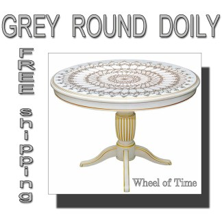 Grey doily Wheel of Time