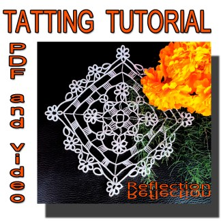 Tatting pattern Reflection