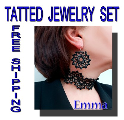Black jewelry set Emma