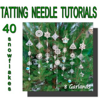 Tatting tutorial eight garlands