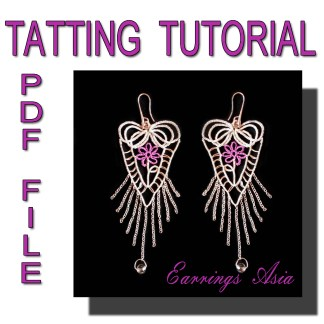 Earrings Asia tatting pattern