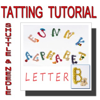 Letter B tatting pattern