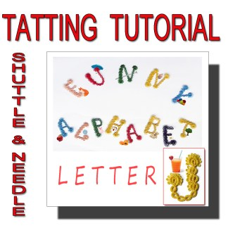 Letter J tatting pattern