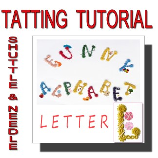 Letter L tatting pattern
