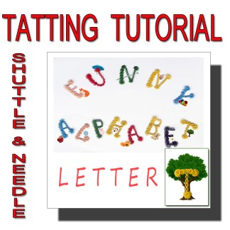 Letter T tatting pattern
