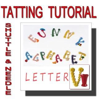 Letter V tatting pattern
