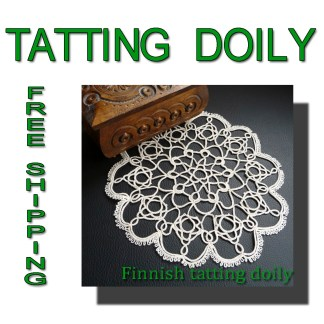 Finnish tatting doily