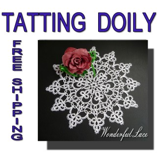 Tatting doily Wonderful Lace