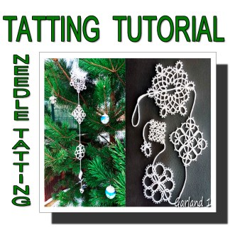 Needle tatting pattern garland first