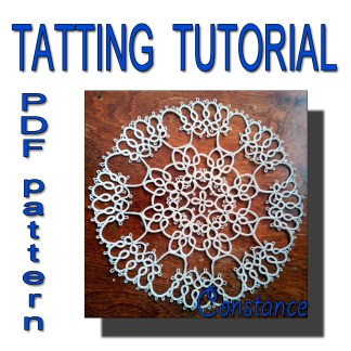 Tatting pattern doily Constance