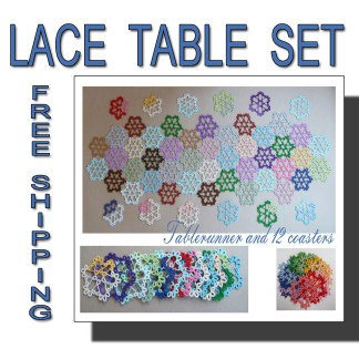 Tatting set Colorful