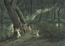 Woodland Fairies in the Moonlight - A. W. Crawford