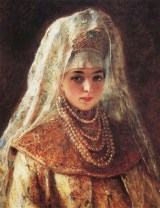 Portrait of a Girl in Russian Costume
