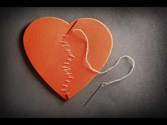 heart sewn up