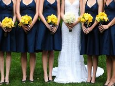 blue and yellow navy wedding