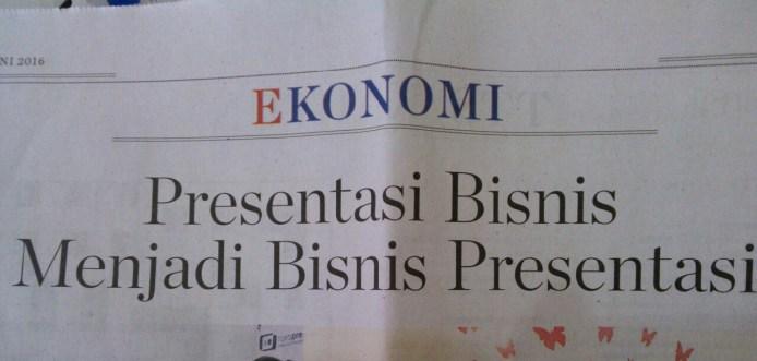 Judul Berita, Kompas edisi 12 Juni 2016