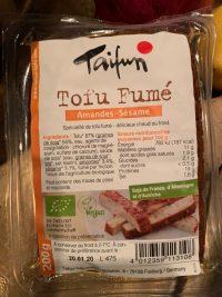 tofu fumé aux amandes