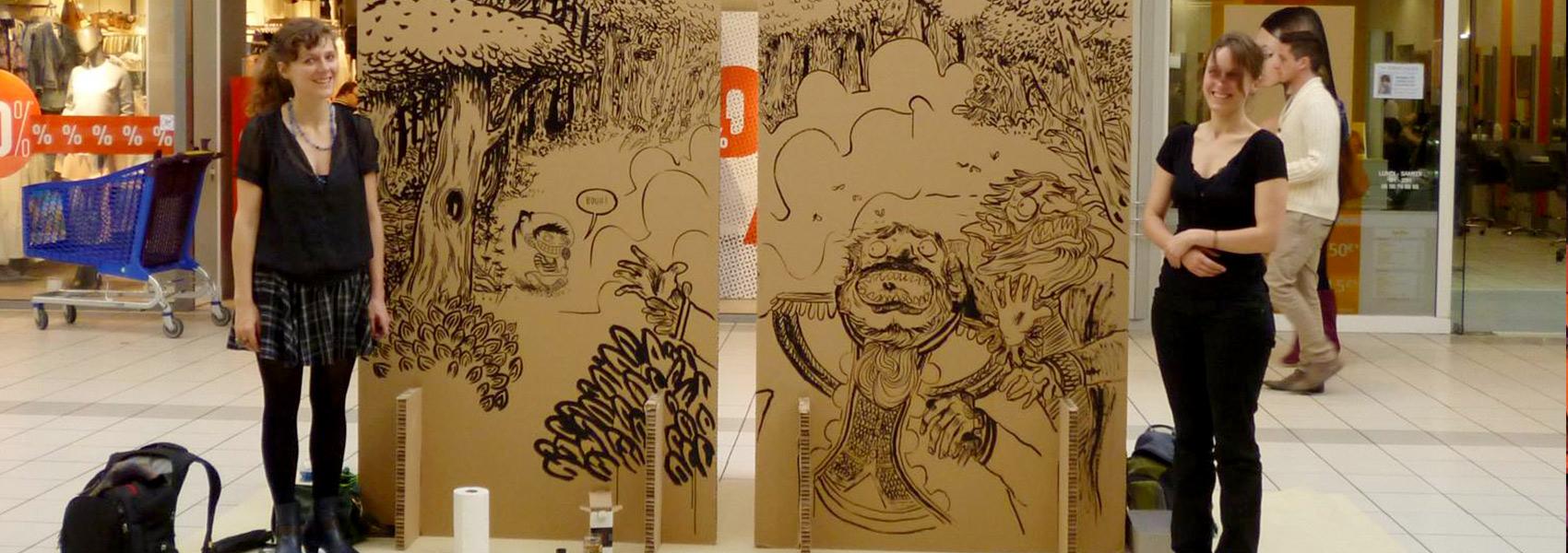 Exposition galerie Carrefour Lormont - En PréamBulles - Faites des Bulles