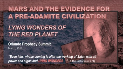 MARS AND THE EVIDENCE FOR A PRE-ADAMITE CIVILZATION