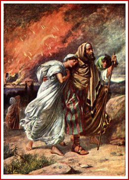 Lot Flees from the Destruction of Sodom and Gomorrah