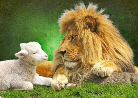 When the Kingdom Comes, the Lion and the Lamb will lie down together