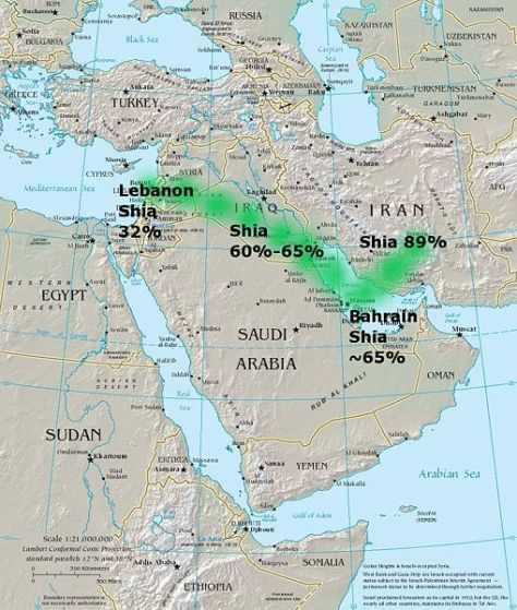 THE SHIA CRESCENT IN THE MIDDLE EAST - FROM DAMASCUS TO TEHRAN